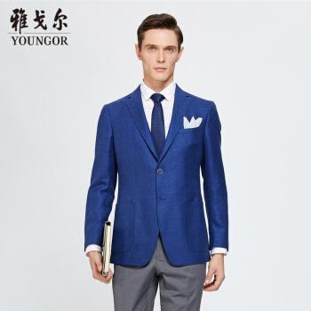アイゴアスーツ男性2019春青年男性スーツYXX 1530 FLAブルー175/104 A