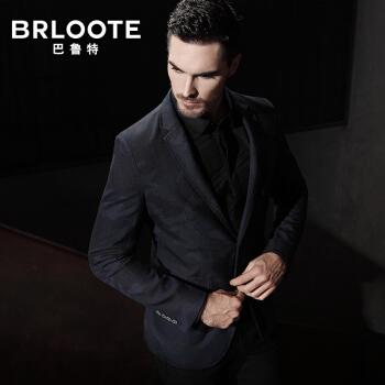 Brloote/バルトメンズウールを少し詰めてスーツを修繕して、西迷彩スーツの単西秋服のオーバーが紺185/104 Aを隠します。