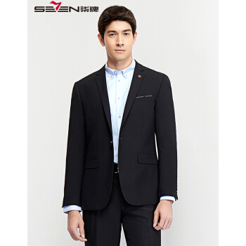 チルメズスーツファッション男性用一顆一顆ボタン単品スーツ2018年春新作ブラック48(175/96 B)