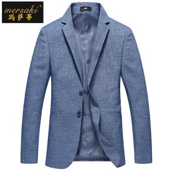 マカティの軽豪华ブランドメンズ2019春新品の男性はスーツを少し装备しています。韩国式修身スーツ青年の明るい色の西ジャケット。