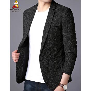 かかしスーツ男性2019春新品の韓国式修身薄モデルの中に、若者がファッションドレスの男性上着と小さなスーツDYT 3138深灰180/2 XLを少し詰めます。