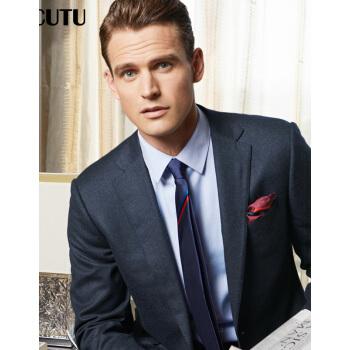 威可多VICUTU男性スーツにビジネスイタリアから輸入された純毛のブレザー男性VB 15312249深藍185/108 C
