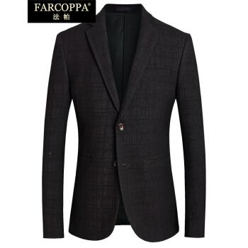 ファパブランド男性スーツ2018年秋冬新品青年ビジネスチェックスーツ男性ファッション赤2 XL