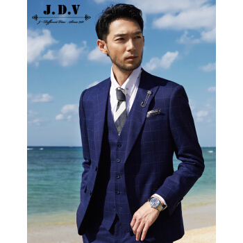 JDVメンズ2019年春新品スーツスーツに新郎結婚スーツをセットしてブルー170/88 A/S