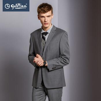 金利来メーズ男性の純毛は、ビジネススーツ78グレー50 Bの2つのタイプのバックルがあります。