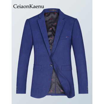 CiaonKaenu少しスーツ男性イギリス春秋新品男性韓国式修身小さいスーツファッション単西青年外套青165