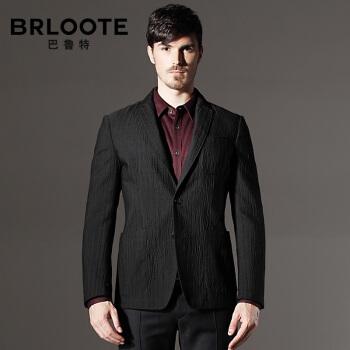 Brloote/バルトメンズウールビジネススーツ男性修身スーツ単品西ジャケット黒180/100 A