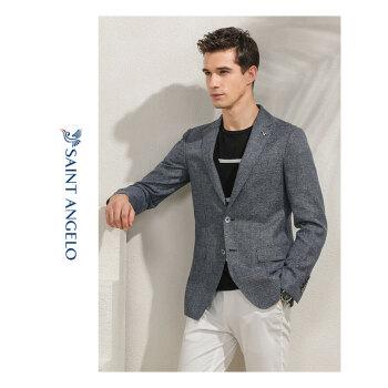 吉報の鳥の春の新商品の軽いスーツのビジネスは少し羊毛の単西のオーバーを詰めてリンネルの男性を修理します西の青い灰色の48 A