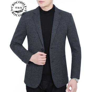 ワニのTシャツ男性2019春新品の中年男性のウールです。ジャケットは西が少し小さいスーツの上着です。秋冬の父は灰色の58617です。175/L