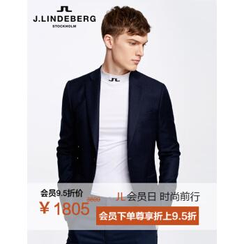 金林德伯格J.LIDEBERG男性正装裁断修身ウール長袖洋服外套輸入51734 K 501 P 7 Xブルー165/88 A/XS
