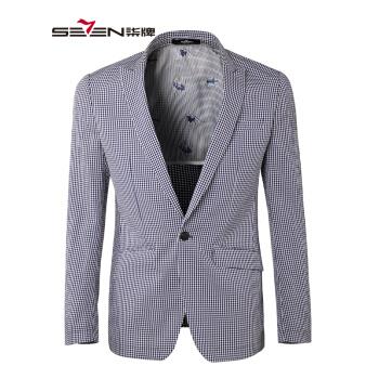 チルドSEVENメーズスーツ男性は、身を修めるブルーのワンポイントスーツ106 C 016055紺色B版48 B