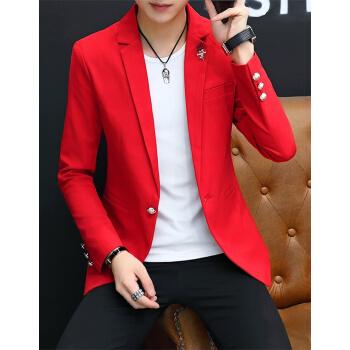 (京東優先)スーツ男性2019春秋の新作ファッションは、韓国式のかっこいい前衛青年のスーツ単西外套礼服メンズファッションXF 18 XL