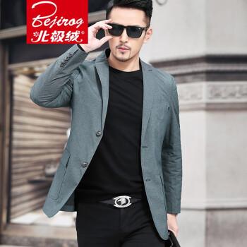 2019春の服装の新品はスツーの男性を少し诘めて身を修めます。西便西中の青年のオーバールは潮と墨の绿の175/Lです。