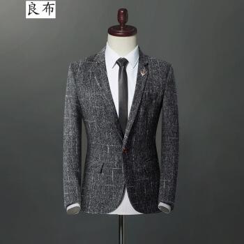 ビジネススーツの単品の上着と韓国式のスーツの男性の大きいサイズのスーツの外套の男性の青年の1粒のボタンが免除されます。