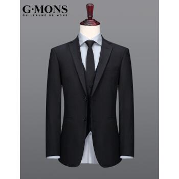 ジヨンモン(G・MONS)黒のスーツ男はスーツの上着を着て身を修める百合単スーツの上着Y版黒のスーツの上着44ヤード