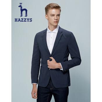 ハギスHAZYS秋の新作スーツ男性シンプルビジネスジャケットASUZJ 07 AJ 01濃紺DN 180/100 A 50