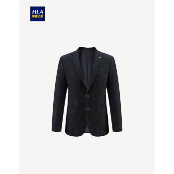 HLA海澜之家修身模様略装スーツ2019春新作ファッション単品ジャケットHWXAD 1 R 011 A黒い模様11 175/92 A