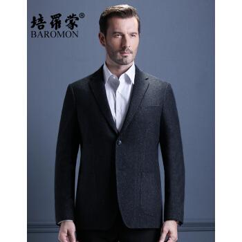 スーツのペロモン秋季新品中年男性スーツビジネススーツスーツ単西修身ウールスーツEDXAH 7206ネイビー175 B