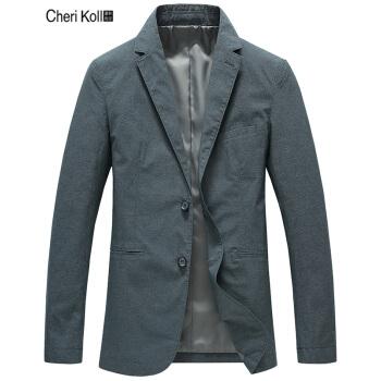 シェリーコール2019新品男性スーツスーツ薄手の春ジャケット修身便西上着潮2018 ZH 021グリーン170/M