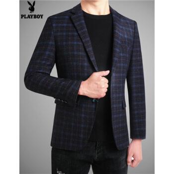プレイボーイスーツ男性修身ビジネスカッコイイコート男性春季新作略装ビジネススーツ6601 M