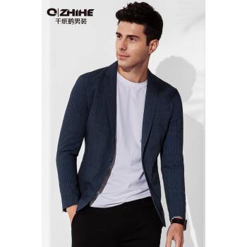 千羽鶴スーツ男性2018年春新品男性イギリス風スーツ小さいスーツ百合男便西HMXJ 3787 01 AブルーXL