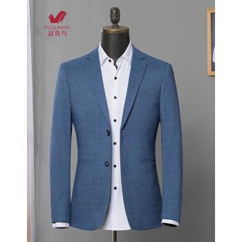 富貴鳥スーツ男性2019春新品男性ビジネススーツ韓国式修身中の青年スーツ男性用ジャケット男性6645ブルーM 170