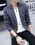 奈瑾外套メンズ新商品略装洋服男韓国式修身ファッション英倫青年スーツメンズ外套学生青XL