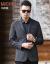 マカロル春物スーツ男性薄手スーツ2019春ビジネス略装便西男上青175/92 A