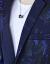 【京東男神季】新品のスーツを厳選した男性2019年春新品のメンズ韓国式ファッションおしゃれプリント青年スーツ単西ジャケット男性用白「着ているXXL」を着用しています。