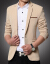 プレイボーイPLAYBOY春秋サイズ5 XL修身スーツ男性青年加肥小スーツデブコート結婚ドレスラッシュカーキ色M