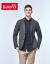 Baleno/バンニルビジネス百合スーツ男性青年スーツスーツスーツ26 EブラウングレーM