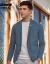 千羽鶴韓式青年便西外套男性略装2019年春新品ブルースーツ男性35098 01 AブルーL