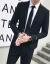 スーツ男性セット2019韓式修身おしゃれファッションカッコいいです。2点セットの無やけど青年男性スーツグレー【スーツ+ズボン】M