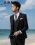 JDVメンズ2019年春新品略装洋服韓国式修身男性ブレザー2色オプションブラック175/92 A/M