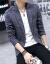青スーツ男2019春新品韓国式修身西単ビジネス略装新郎随郎礼服男性職業スーツコートXY 52ブルー3 XL