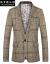 パウロの歌の仕トンのスーツの男の2019年の春秋の新品の大きいサイズの格子のビジネスは少し詰めます小さいスーツの男の修身の韓式のスーツの外套の単西の男の英倫は西の髪形師に従ってその色のXLに従います。