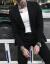 韓国式ビジネススーツの小さいスーツの男性のスーツの風の青少年は身を修めて格好が良いひとまとまりのスーツの2つのセットは潮の黒い【スーツ+ズボン】XL