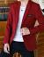 紀詩哲軽豪華ブランドスーツ男性新品春秋外套スーツスーツスーツスーツスーツ単品上着青年カッコイイスーツ716赤(上着+Tシャツ)XL