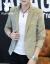プレイボーイ/PLAYBOY春秋の韓国式の小さいスーツの男性は少しおしゃれの刺繍入りのランプ芯の绒のコートの青年のファッション修身スーツの上着の902カーキの色Lを詰めます。