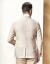 ヤングorヤゴールスーツ男性【亜麻】春季男性のカジュアルビジネス略装カーキ185/104 A
