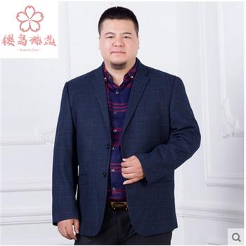 桜島臻は男性の太っている人を選んで、洋服を少し詰めます。春秋に大きいサイズのデブ羊毛ビジネスコートを入れます。