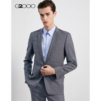 G 2000ビジネス青年スーツコート新品のイギリス男性修身チェックスーツ68110462深灰/98 54/185