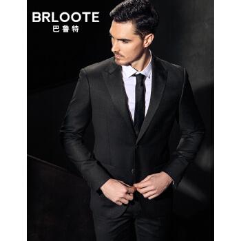 Brloote/バルトメンズウールビジネススーツ男性修身コート単西スーツ黒170/92 A