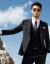 JDVメンズ2019年春新品略装洋服韓国式修身男性ブレザー2色オプション黒170/88 A/S