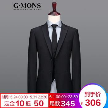 ジヨンモン(G・MONS)黒のスーツ男はスーツの上着を着て身を修める百合単スーツの上着Y版黒のスーツの上着を着て50ヤードです。