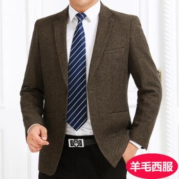 キツツキブランドのメンズ秋冬お父さんがスーツ単品ビジネススーツに中年メズコートのサイズのウールを少し詰めました。ブレザー301 180/52