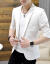 2019夏の韓国式修身純色の小さいスーツの中で袖七分袖のスーツの白いM/90-110斤を提案します。