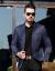 新商品の青年のスーツを少し詰めます。スーツの男性のおしゃれ薄年齢ビジネス中年の上着のジャケットは西の服の紺色180/XLです。