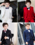 白男児スーツ子供スーツスーツスーツ花童礼服男の子司会者ピアノ演出服韓国式春黒スーツ5点セット/レギュラーシャツ170 cm(160ヤードシャツ発)
