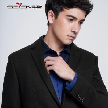 チル(SEVEN)単西男性青年ビジネス略装小洋服外套115 C 10040黒B 48